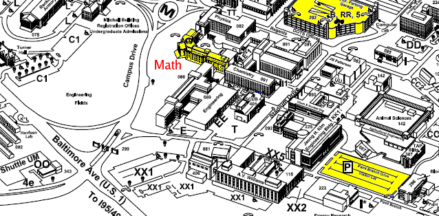 math building parking map