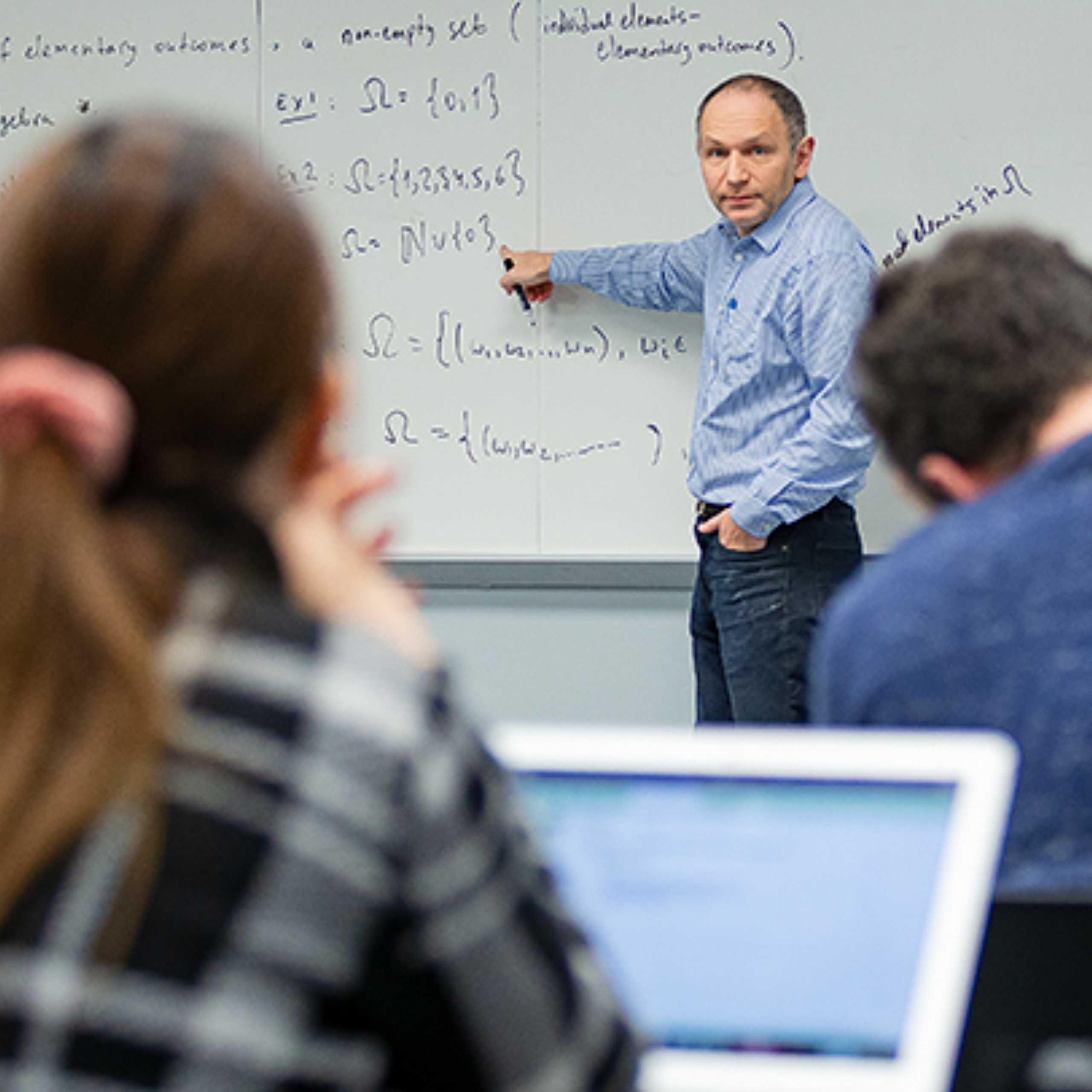 Professor Koralov teaching a class
